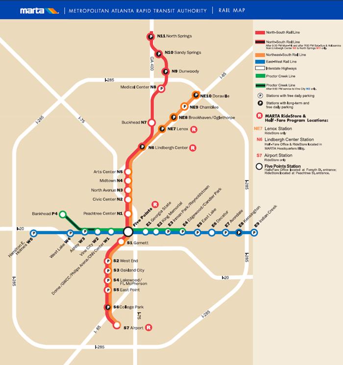 M.A.R.T.A Rail Map
